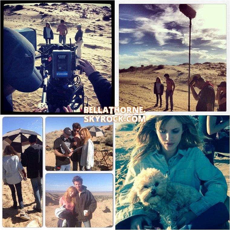 Voici (encore) de nouvelles photos prises sur le tournage de « Big Sky » à Albuquerque et postées par Bella sur Twitter. Elle été rejoint par l'acteur canadien François Arnaud (vu dans la série The Borgias).