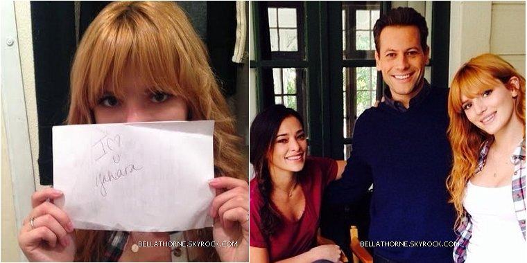 Le 2 décembre Bella a rencontré le casting de son prochain film « Home Invasion ».