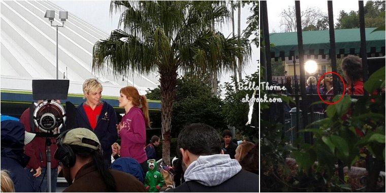 Le  29 janvier était une journée chargée pour Bella. Elle a d'abord été aperçue par des fans à DisneyLand en Floride, où elle tournait un spot publicitaire pour la marque Danimals avec le chanteur Ross Lynch (tout comme la veille).