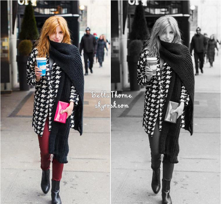 BELLA A LA FASHION WEEK DE NEW YORK - 9 FÉVRIER 2014.