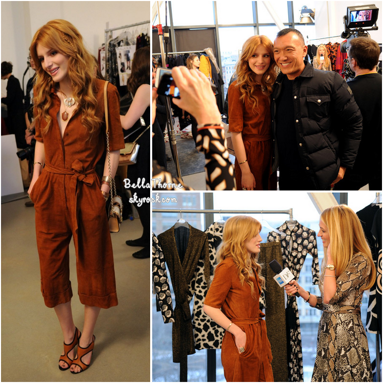 BELLA A LA FASHION WEEK DE NEW YORK - 9 FÉVRIER 2014.