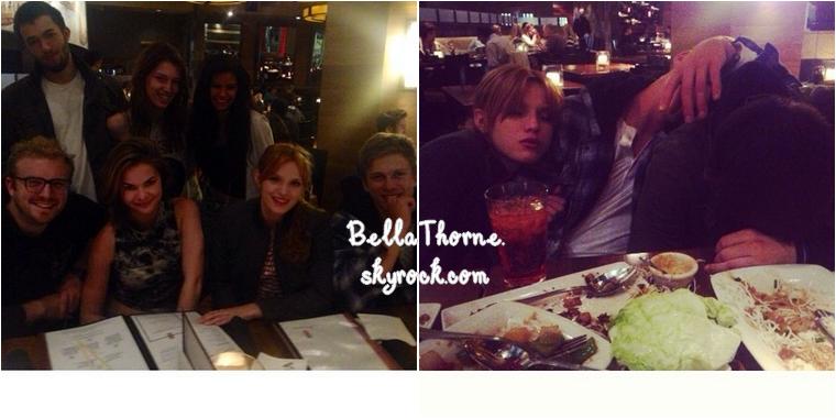 Bella sort peu ces temps-ci mais nous tient au courant de sa petite vie via Twitter et Instagram. Voici les photos postées cette semaine.
