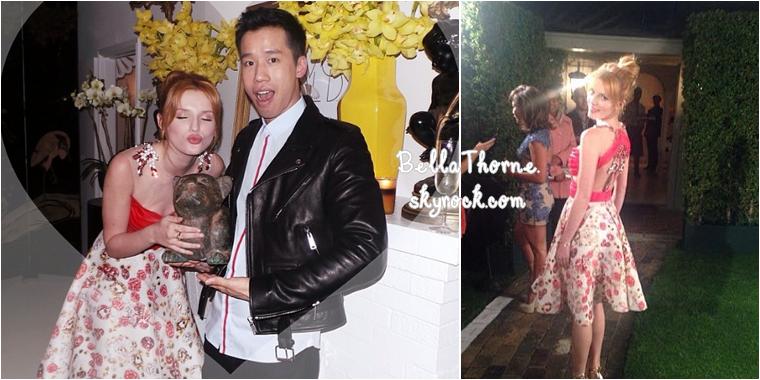 Le 26 février, Bella était à l'événement Sally Morrison & LoveGold au Château Marmont à Los Angeles. Je n'aime pas  la jupe qu'elle porte.