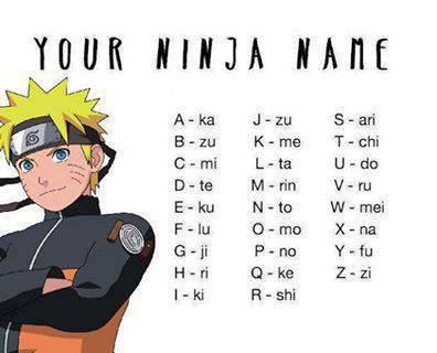 votre nom de ninja >< c'est quoi ?