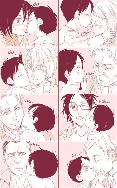 funny atack of titan kiss baby ^^