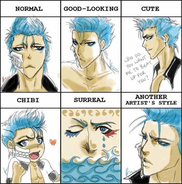 normal ,good-looking,cute,chibi,surreal,another de bleach ^^
