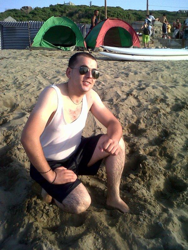 en  plage avec  mes  amis