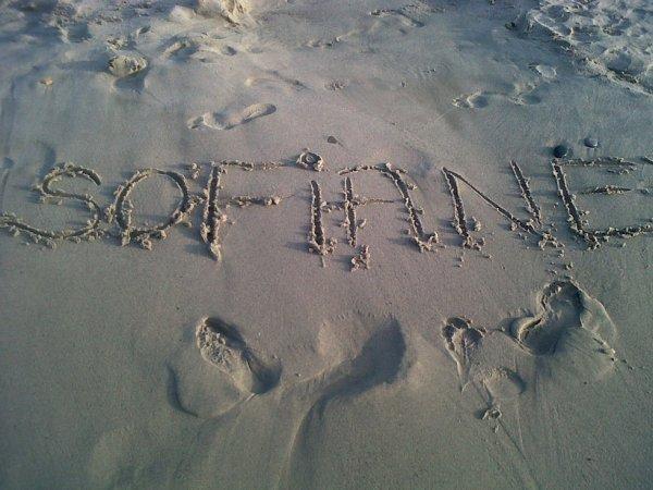 mon nom  sur  le  sable