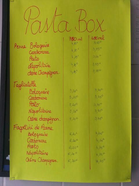 RESERVEZ VOTRE PASTA BOX