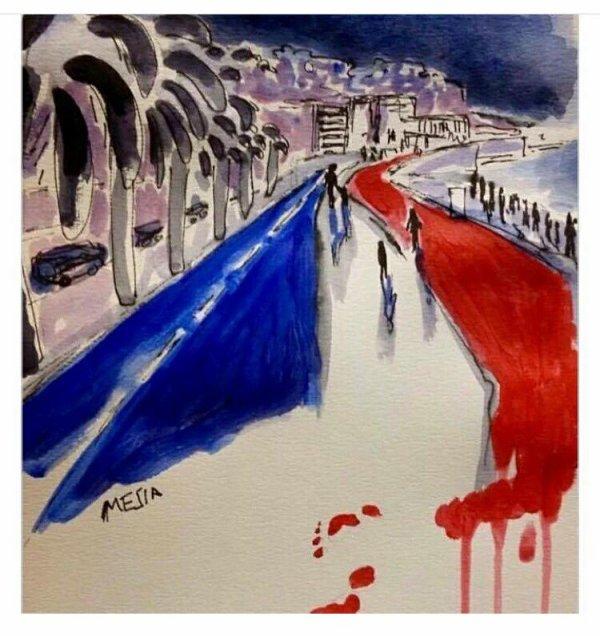 Pensée émues pour les familles des victimes de cette barbarie #Nice