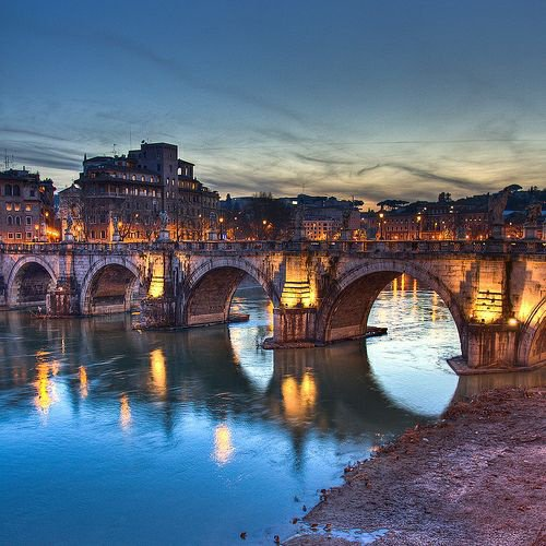 "Ponte Sant ""Angelo - (Rome , Italie)"