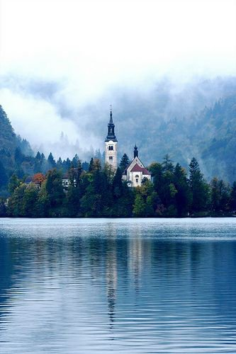 Lac de Bled, en Slovénie