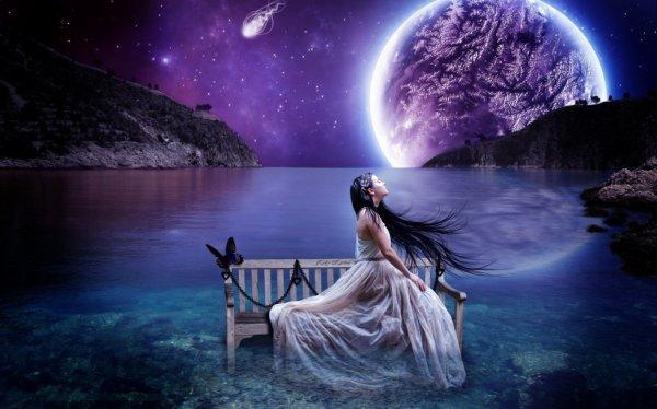 Je dessinerai ton visage si beau , Dans un ciel d'étoiles , Pour te l'offrir en cadeau