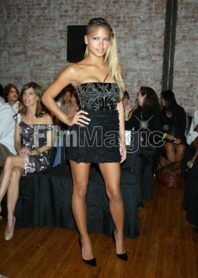 Cassie at Nicole Miller's fashion show