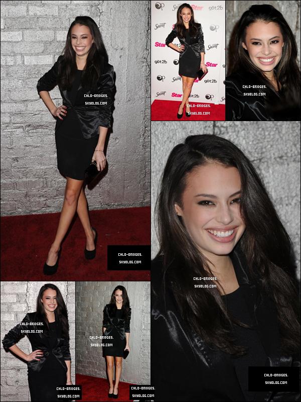 .    Chloe aux Star Magazine Celebrates Young Hollywood Issue Launch Party le 31/03           Meaghan Martin & Debby Ryan y étaient aussi. C'était la soirée des DisneyPasTrèsConnues je crois ...  .