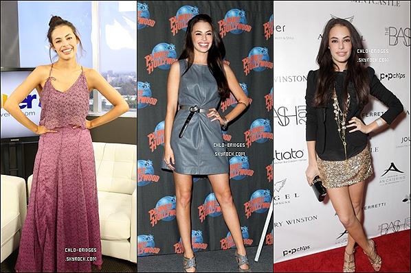 . hello_ RATTRAPAGE  des apparitions publiques de Chloe Bridges pendant l'année 2011. Quelle est ta tenue préférée ? Celle que tu aimes le moins ?hello_ .