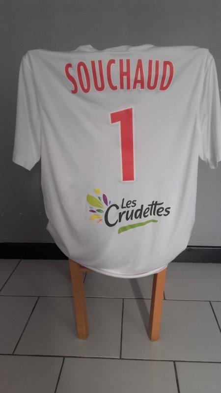 Maillot porté par Louis Souchaud lors de Concarneau - Berrichonne (1-1) du 28/11/2016 National.