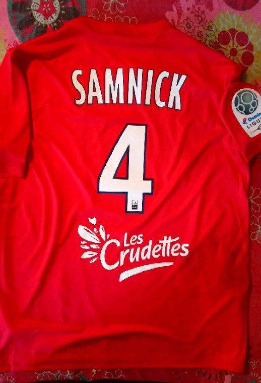 Maillot porté par Richard Samnick en ligue 2 le 30 Octobre 2017 lors de Chateauroux / Lens.