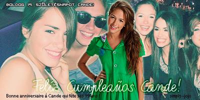 Candela Vetrano fête ses 19 ans. Bon anniversaire!
