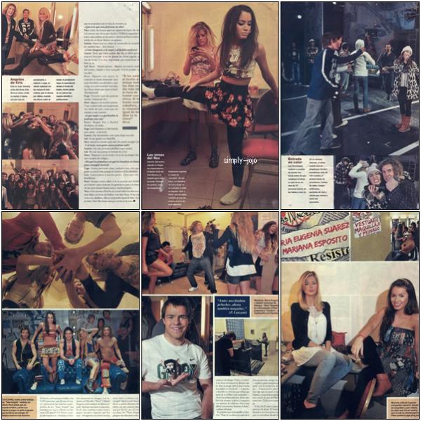 Nouveaux scans : En haut du magazine Gente et en Bas de Caras