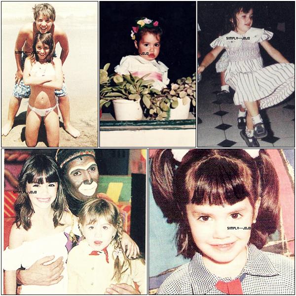 L'enfance de Lali ; Elle est toujours aussi Belle, petite ou grande.