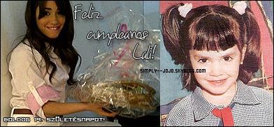 Bon anniversaire Lali. Ce 10 Octobre 2010 tu as 19 ans!