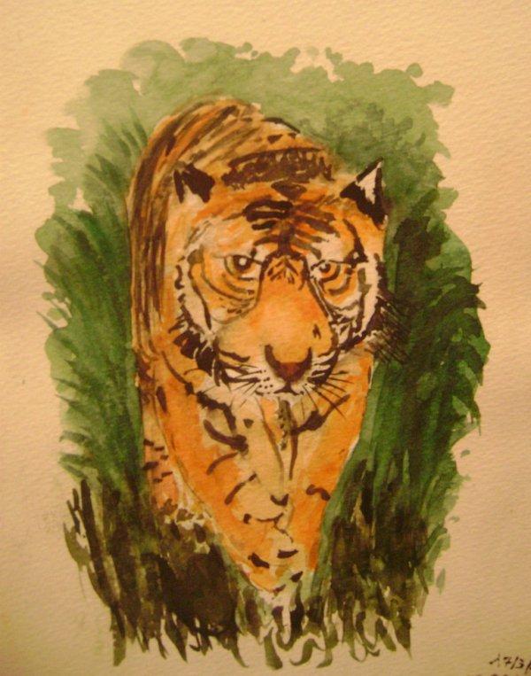 Tigre aquarelle