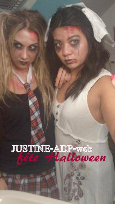 Justine et des amis
