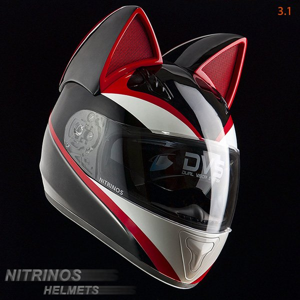Pilotez votre moto avec style grâce à ce casque Neko !