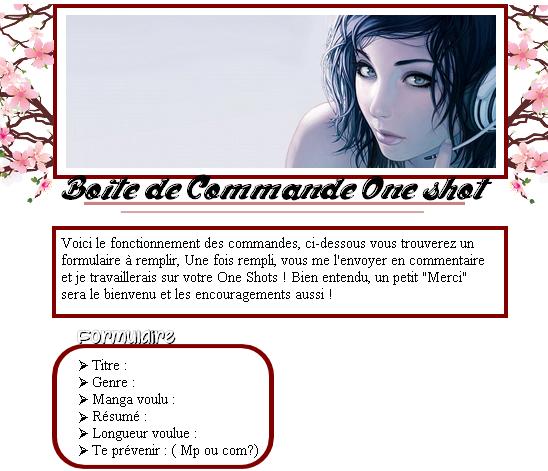 """"""" Une commande, Un one shot """""""