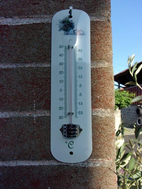 que faire de cette chaleur? photo prise à 19 h ce jour ! impossible de rester dehors !