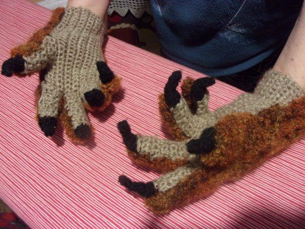 les gants sont terminés!
