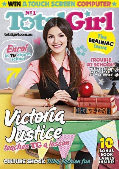 Victoria Justice en couverture du magazine TotalGirl