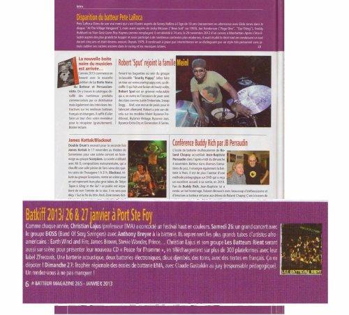 Le BATKIFF dans Batteur Magazine