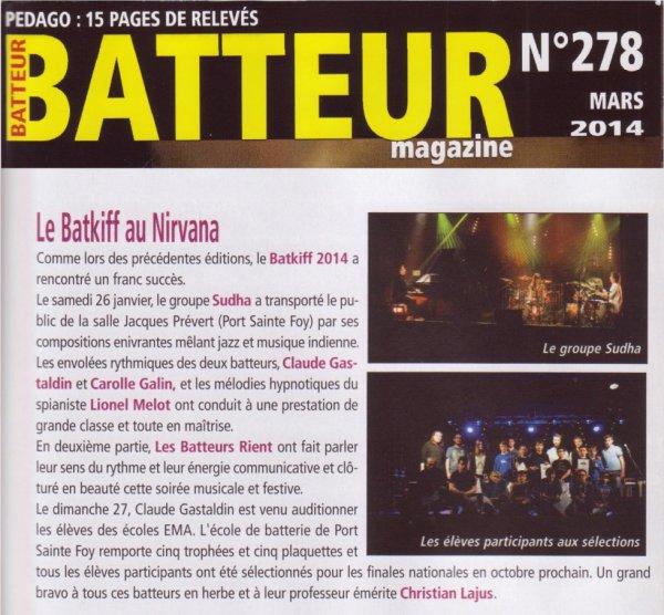 Le Batkiff dans Batteur Mag !