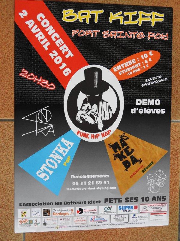 BATKIFF 2016 samedi 2 avril à Port Sainte Foy
