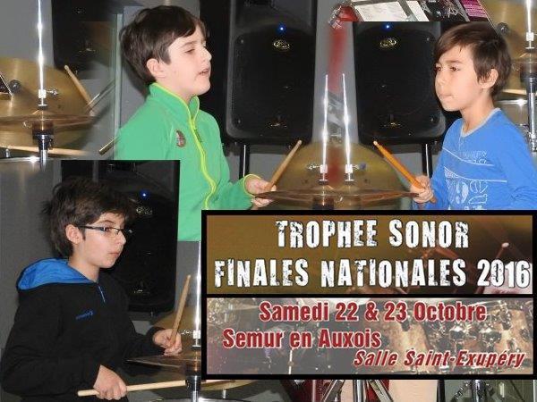 Participation de Sasha, Noé et Mattéo aux finales du trophée Sonor
