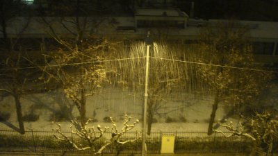 la neige tombais hier soir