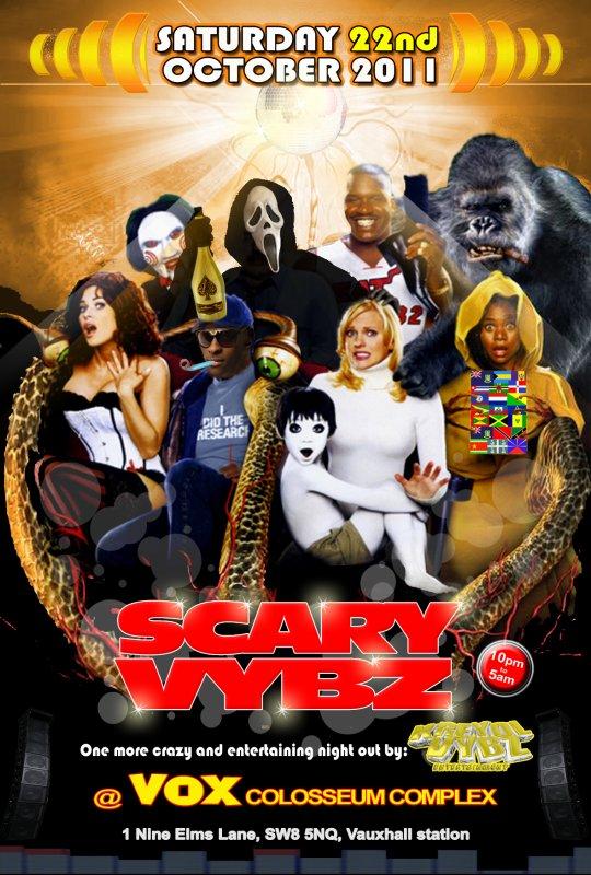SCARY VYBZ party - SOCA & ZOUK MADNESS avec la Soca Mafia: MR MENTION + VINNY RANKS & DJ WALLY & NINJAMAN LLOYD.
