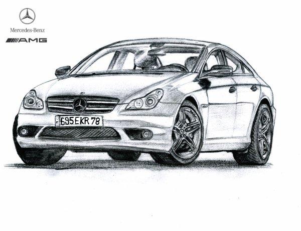 Mercedes cls 63 amg sldesign - Dessin voiture mercedes ...
