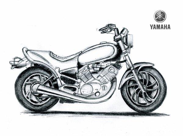 Jaguar Type E Coupe & Yamaha Virago