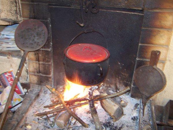 ** faire une petite soupe **********AU COIN DU FEU