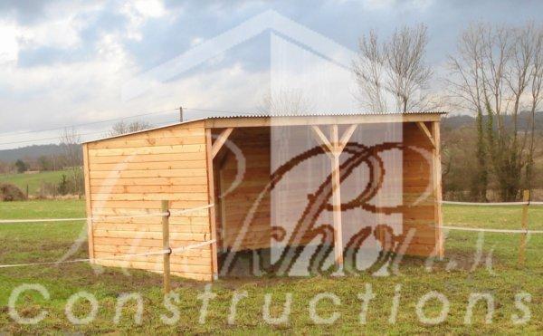 Construction d'un abri de prairie 6*3m