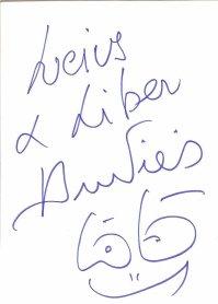 Les dédicaces d'Aurélien et de Laurent Boyer.