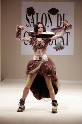 Top Model au Salon du Chocolat (novembre 2006)