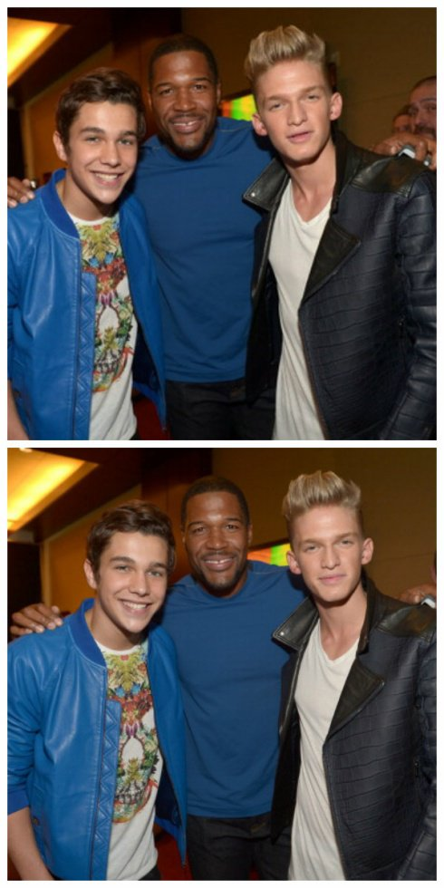 29 mars: Cody, Austin Mahone, Michael Strahan au Kid'sChoice Awards de 2014