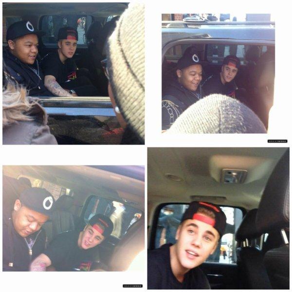 01.04 - Justin à l'extérieur de son hôtel à Toronto, Canada