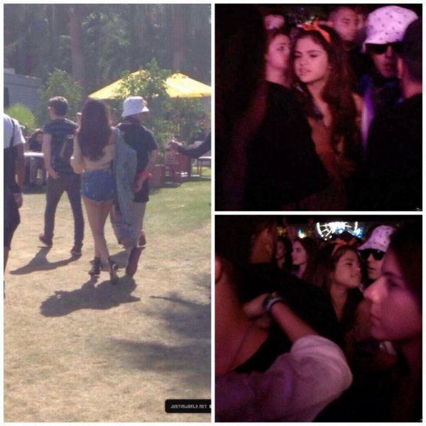 13.04 – Justin et Selena Gomez au festival Coachella