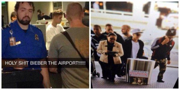 19.04 - Justin à l'aéroport LAX