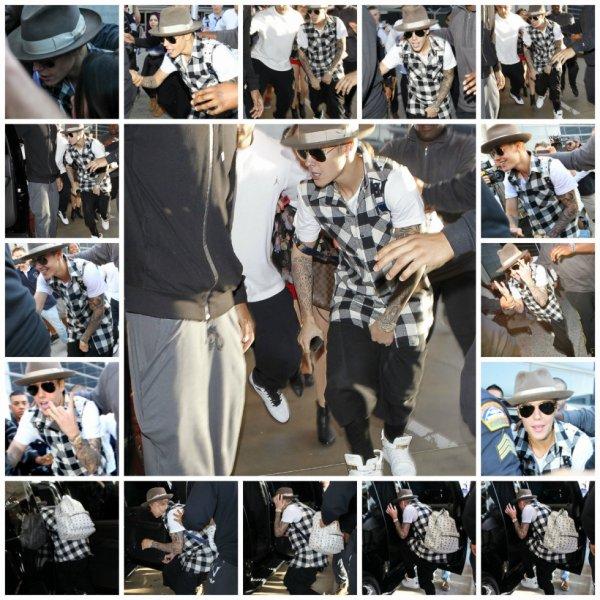 24.04 – Justin quittant l'aéroport LAX, Californie
